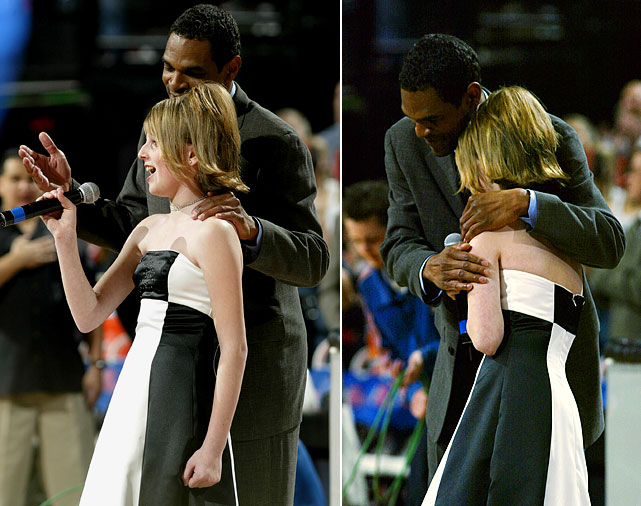 "Natalie Gilbert's shining moment came when she was asked to sing the national anthem before a Trail Blazers game in April 2003. Midway through the anthem however, Gilbert struggled to remember the words. Luckily, then-Blazers coach Maurice Cheeks came to the rescue, lending a comforting hand and the remaining verses to ""The Star-Spangled Banner."""