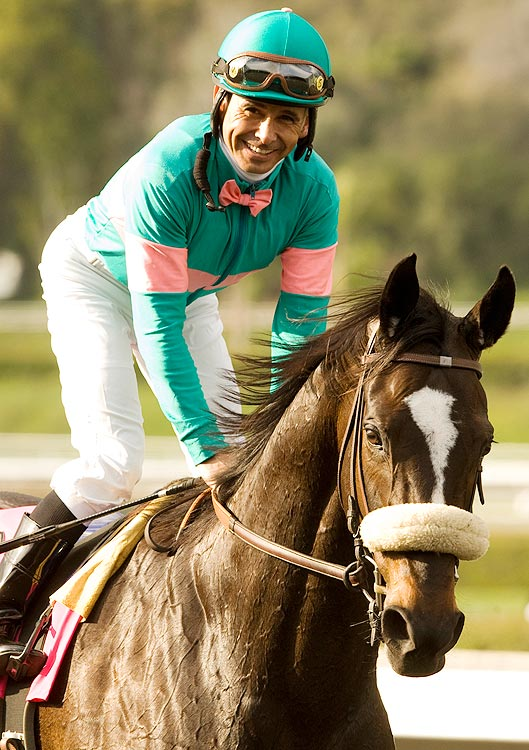 In December 2009, it seemed that Zenyatta would go out on top, finishing her career with a pristine 14-0 record.  But in early 2010, Zenyatta looked too good to retire, and her owners and trainer announced that she would run again in 2010.  Her first race of the season, the Santa Margarita Invitational at Santa Anita Park, was won in typical Zenyatta style.  Coming from behind, she navigated through traffic and made a late charge to win the race  by 1 1/4 lengths.