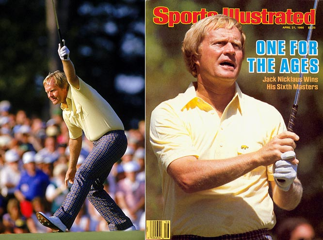 The Golden Bear became the oldest Masters winner at 46, posting a six-under par 30 on the back nine to claim his 18th and final major championship in 1986.
