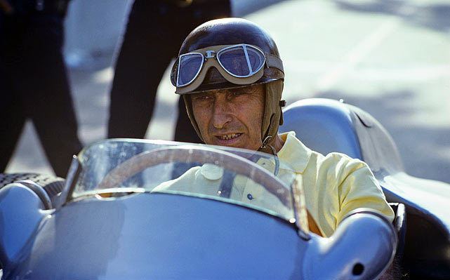 The Argentine Formula One driver, whom many still consider to the greatest of all time, won the World Drivers' Championship five times between 1951 and '57 -- his first coming at 40, his last at 46.