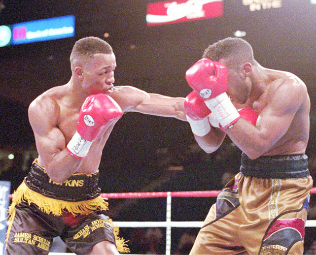 Shortly after winning the IBF middleweight championship from Segundo Mercato (after Jones had abandoned the division and vacated the title), Hopkins defended it against Michigan's Joe Lipsey on the undercard of Mike Tyson-Frank Bruno II in Las Vegas.