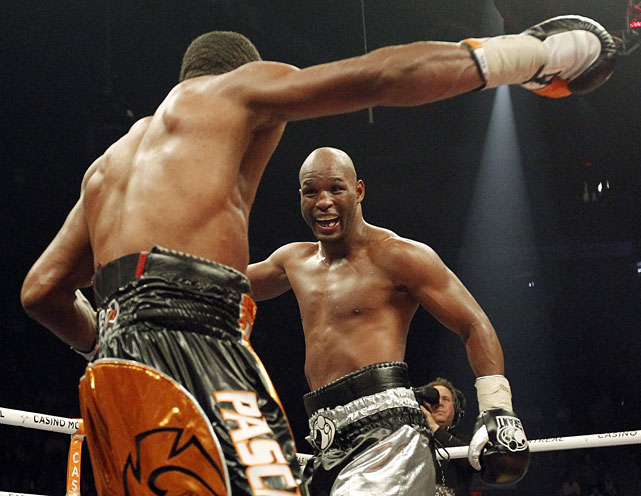 The future Hall of Famer looked to write yet another piece of boxing history against WBC and  Ring  light heavyweight champion Jean Pascal, who was five years old when Hopkins turned pro. But his bid to become the oldest major world champion was denied in a controversial majority draw. One judge scored it 114-112 for Hopkins but the other two had it 113-113 and 114-114.