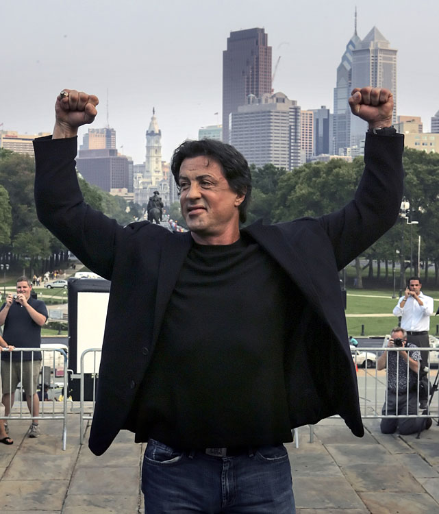 "Stallone wrote and starred in  Rocky , the 1976 film about an underdog boxer from Philadelphia that was nominated for 10 Academy Awards, winning for best picture, best director and best film editing. He wrote five other films based on the character and was awarded the Boxing Writers Association of America award for ""Lifetime Cinematic Achievement in Boxing"" in 2006. The  Rocky  films have grossed more than $1 billion worldwide, helping fortify boxing's place in the cultural mainstream. He also hosted and produced the boxing reality series  The Contender ."