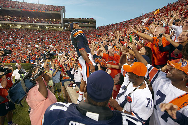 The allegations soon became national headlines, but Auburn fans continued to support their star quarterback.