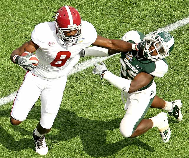So much for all the talk about the Spartans deserving to play in a BCS bowl. Alabama annihilated Michigan State in every facet of the game and wound up sitting most of its starters midway through the third quarter. The Tide scored on their first four possessions, held the Spartans to 171 total yards and delivered the most lopsided win in the history of the Capital One Bowl, which dates back to 1947 under different names.