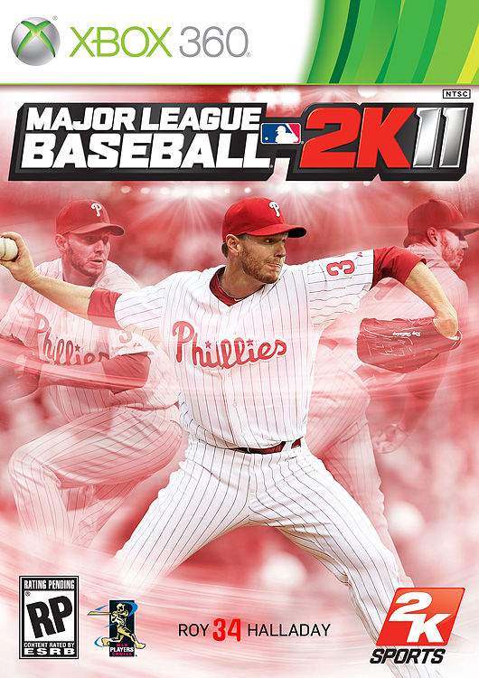 Phillies'  superstar pitcher and this  year's National League Cy Young winner, Roy  Halladay, will grace the cover of 2K  Sports' annual baseball  franchise. Halladay and the Phillies fell short against  the eventual  World Series champion Giants in the NLCS, but the right-handed ace   still posted an amazing 21-10 season with a 2.44 ERA and 219 strikeouts.  MLB  2K11 is scheduled for a March 11, 2011 release on all  platforms.