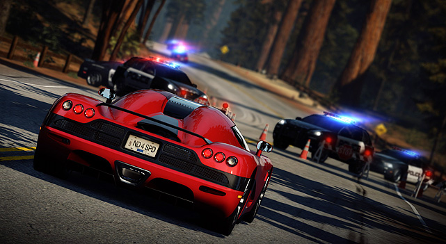 The  latest iteration of the Need For  Speed franchise is beautiful in its  simplicity. It's basically cops vs. racers.  Racers race, and cops try  to catch them. You play both sides of the law through  the single-player  campaign and the robust online mode.  Fans  of Burnout: Paradise will love the crash sequences and methods of   accumulating nitrous: drive against traffic, slipstream and near-misses.  There's  a full array of makes and models for the cops and robbers, so  if you think being  part of the Fuzz is lame, you'll reconsider when you  get to do so in a Porsche.  The  gameplay is refreshingly simple  yet dynamic thanks to the weapons  available: spike strips, EMP bursts,  roadblocks and helicopters. Fans  of racing games and especially this series will  not be disappointed.  Score:  9/10