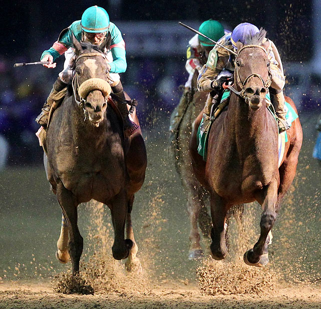 Seeking to go 20-for-20, Zenyatta came up short ... but just barely. The 6-year-old mare, the only female in the bunch, fell behind by nearly 20 lengths, a ridiculous deficit against top horses, but stormed all the way back only to lose a photo finish to Blame. Even in defeat, Zenyatta put on a show-stopping performance in front of more than 72,000 at Churchill Downs in Louisville, Ky.