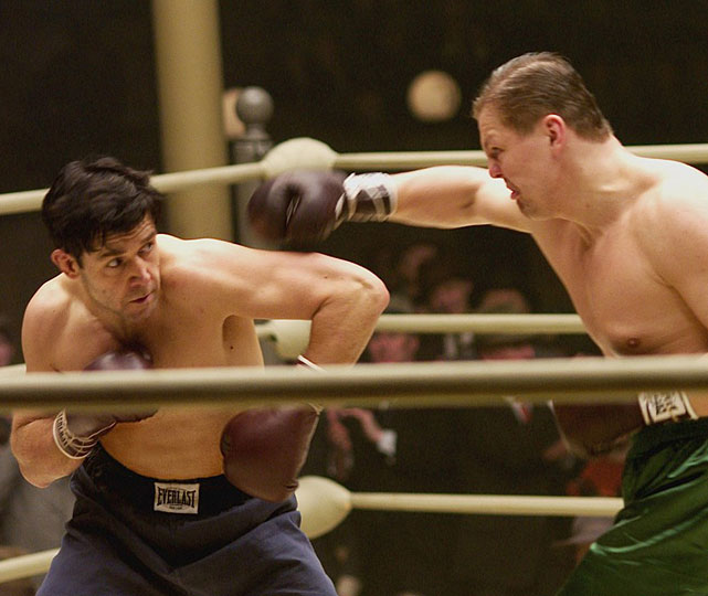 "Directed by Ron Howard. Starring Russell Crowe, Renee Zellweger, Paul Giamatti.   THE STORY  With the United States mired in the Great Depression, former light heavyweight contender Jim Braddock (Crowe) makes an unlikely comeback, ultimately challenging Max Baer for the heavyweight championship.  THE LEGACY  Crowe suffered from several concussions and cracked teeth during filming after shedding more than 50 pounds to play the undersized Braddock.  THE QUOTE  ""I have to believe that when things are bad I can change them.""  --Jim Braddock (Crowe)"