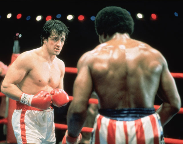 "Directed by John G. Avildsen. Starring Sylvester Stallone, Talia Shire, Burt Young.   THE STORY  A Philadelphia club fighter woos a painfully shy pet store clerk while training for a once-in-a-lifetime shot to fight the heavyweight champion.  THE LEGACY  The behind-the-scenes story has become Hollywood legend: how Stallone pounded out the script in three days after watching the 1975 fight between Muhammad Ali and Chuck Wepner; how the then-unknown actor insisted on playing the lead; how it was shot in 28 days on a shoestring budget of less than $1 million.  THE QUOTE  ""Ah come on, Adrian, it's true. I was nobody. But that don't matter either, you know? 'Cause I was thinkin', it really don't matter if I lose this fight. It really don't matter if this guy opens my head, either. 'Cause all I wanna do is go the distance. Nobody's ever gone the distance with Creed, and if I can go that distance, you see, and that bell rings and I'm still standin', I'm gonna know for the first time in my life, see, that I weren't just another bum from the neighborhood.""  --Rocky (Stallone)"