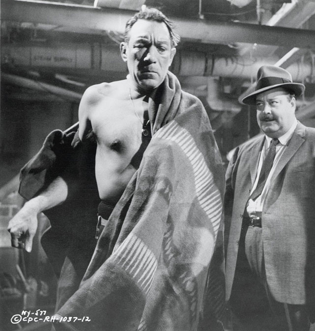 "Directed by Ralph Nelson. Starring Anthony Quinn, Jackie Gleason, Mickey Rooney.   THE STORY  One-time heavyweight contender Mountain Rivera (Quinn) is forced to retire when told he could go blind and tries with mixed success to adjust to life outside the ring, but manager Maish (Gleason) is under pressure from the mob after losing money on Rivera's last fight. To pay off Maish's gambling debts, Mountain agrees to perform as Native American wrestling persona ""Big Chief Mountain Rivera.""  THE LEGACY   Twilight Zone  creator Rod Serling penned the script for the most achingly realistic boxing film of all-time.  THE QUOTE  ""Mountain Rivera was no punk. Mountain Rivera was almost heavyweight champion of the world.""  --Mountain Rivera (Quinn)"