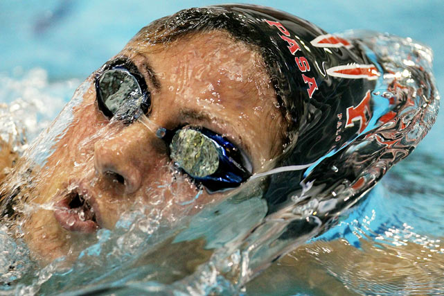 Alicia Grima competes in the 500 yard Freestyle heats on day one of  the AT&T Short Course National Championships at McCorkle Aquatic Pavillion on December 2 in Columbus, Ohio.