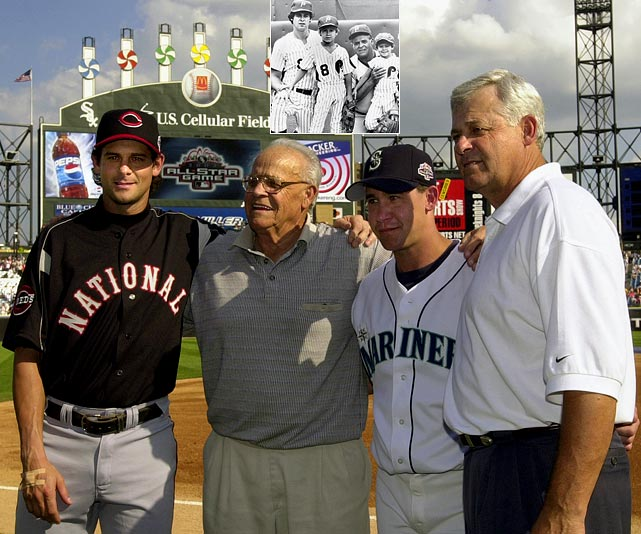 The Boone family -- including grandfather Ray, father Bob, and sons Bret and Aaron -- was the first to send three generations to the MLB All-Star game.