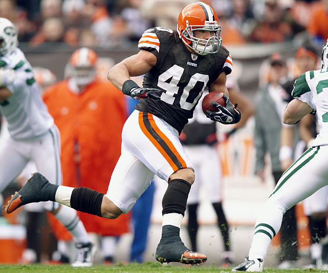 Jerome Harrison was the Cleveland running back drafted in 2010. Hillis quickly took the starting job, Harrison was traded to Philadelphia and the Browns had their first 1,000-yard rusher since Jamal Lewis. Hillis faded a bit in the fantasy playoffs, but still scored 13 touchdowns this season.