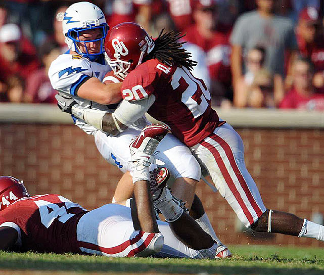 Carter is a safety on the rise as the Oklahoma senior comes off a career campaign.  He's a tough run defender who has posted 180 tackles the past two seasons.  Carter's ball skills have steadily improved and he posted eight interceptions  with 10 pass break-ups during that time. Scouts project Carter as a strong  safety or in a system which employs a zone defense.   3 rd Round  Prospect