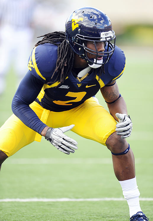 The Mountaineers' 6-foot, 4-inch safety, who tips the scales at 220 pounds,  really stands out on film. He's an aggressive run stuffer who hits like a  linebacker yet has enough range to cover sideline-to-sideline in centerfield.  Scouts think the sky is the limit for Sands, whom they also feel is another year  away from being NFL ready.    2 nd    /   3 rd Round  Prospect