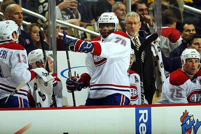 "The Canadiens' promising defenseman found himself in Le  Chateau Bow-Wow in Montreal, benched for rookie  mistakes and, supposedly, incurring the wrath of Pittsburgh's Sidney Crosby, Philadelphia's Mike Richards and broadcaster  Don Cherry by yapping. But Habs fans took a shine to the outgoing, outspoken  Subban during the 2010 playoffs, and teammate Hal Gill has defended him by  saying, ""That's when P.K. plays well, when he's under people's skin and forces  people into poor decisions trying to hit him. I wouldn't expect him to change  anything he does. You know, he's got a lot to learn about the game, but I think  the way he plays, it is exciting and fun."""