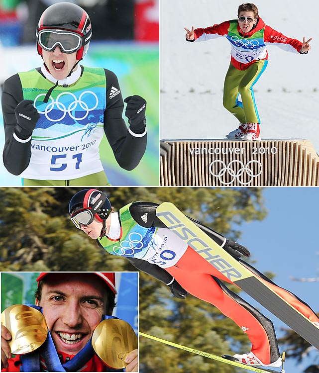 A Harry Potter sequel took place in Whistler. Swiss whiz Simon Ammann first gained fame by winning double gold at the 2002 Olympics as a Potter doppelganger. Eight years later he repeated the feat, this time a bit more grizzled than the young wizard, with the longest jumps on both the normal and large hills.