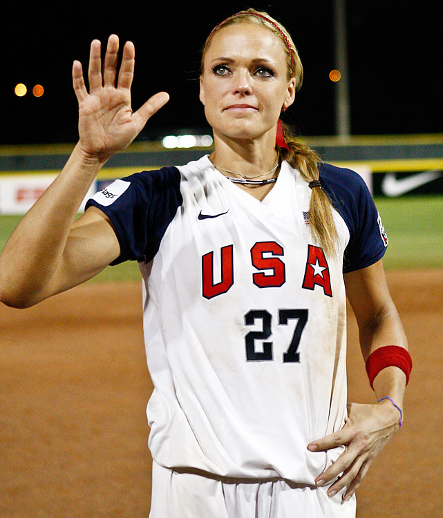 Jennie Finch, perhaps the most recognizable softball player in U.S. history, retired at age 29 in July to spend time with her husband, minor-league pitcher Casey Daigle, and 4-year-old son Ace. Finch pitched for two U.S. Olympic teams, winning gold in 2004 and silver in 2008, and gained baseball fame with her ability to strike out MLB hitters, as well as her good looks.