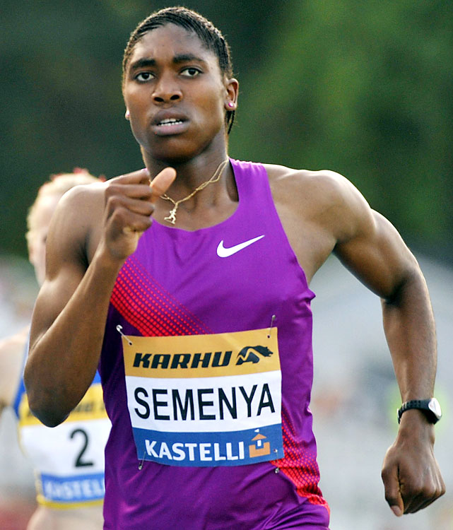 South African teen Caster Semenya burst onto the track scene by running away with the 800-meter world title in 2009. Just as quickly, she was taken off the track and engulfed in a gender-testing controversy. Going nearly one year between competitions, Semenya was allowed to run again in July, winning two minor races in Finland during an otherwise lost year.
