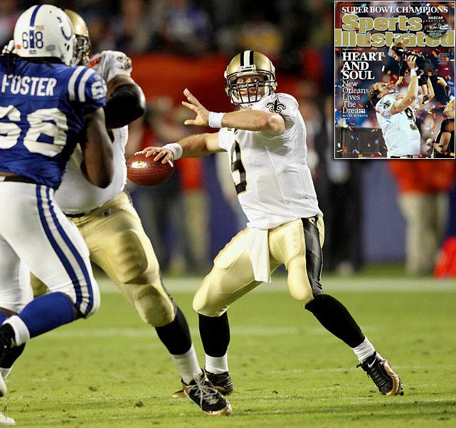 Drew Brees and the New Orleans Saints overcame an early 10-point deficit, pulled off a risky onside kick and won their first Super Bowl title with a 31-17 victory over the Indianapolis Colts in Miami.