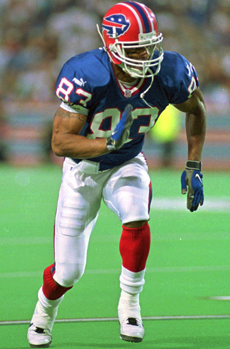 Andre Reed paid dividends for the Buffalo Bills as a surprise fourth-round draft pick in 1985. In 15 seasons with Buffalo, he finished second all time to Jerry Rice with the most seasons of 50 or more catches (13). He's 11th in career receiving yards and 12th in receiving touchdowns. In his four Super Bowl appearances, he had 27 receptions, which ranks second all time to Rice.