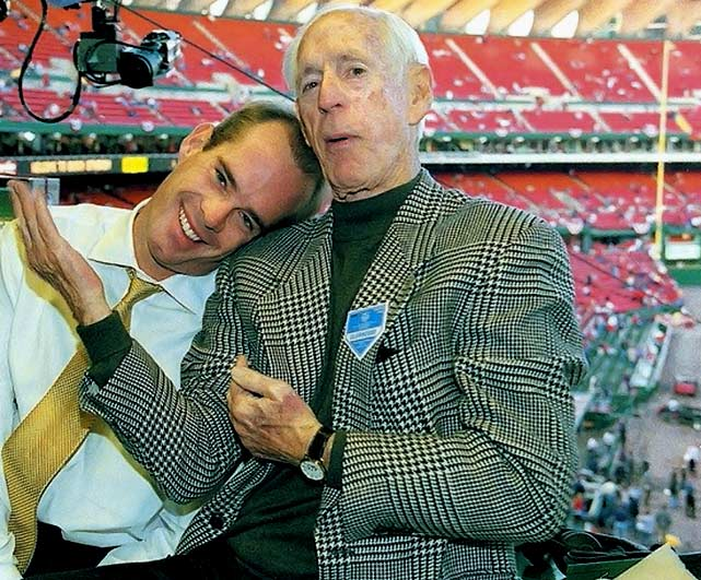"""Before Joe Buck was Fox's main man, his father Jack was a baseball announcer most famous for his time with the St. Louis Cardinals, starting in 1954. Buck's deep voice and distinctive descriptive style made him unique, and he is the voice of many of baseball's most famous calls. On Kirk Gibson's 1988 Game 1 World Series home run: """"I don't believe what I just saw!"""""""