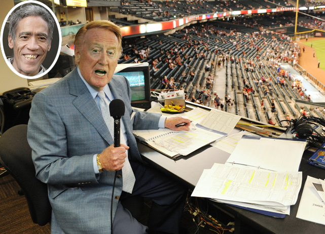 "As the legend of internet sensation Ted Williams and his golden voice continues to grow, SI takes a look at the best voices in sports broadcasting history. Our first choice is Vin Scully, whose 61 years with the Dodgers is the longest tenure of any broadcaster with one professional sports team. He has been known as ""the Voice of the Dodgers"" since 1950, when the team was still in Brooklyn."
