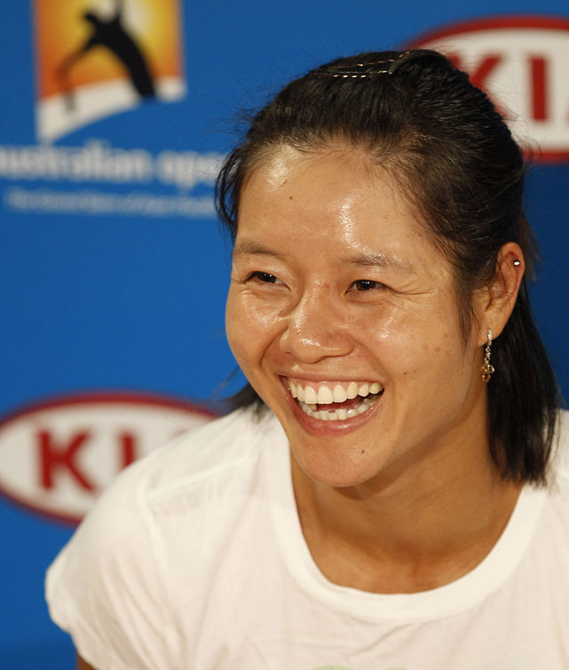 Li talks to the media at a press conference on Friday.