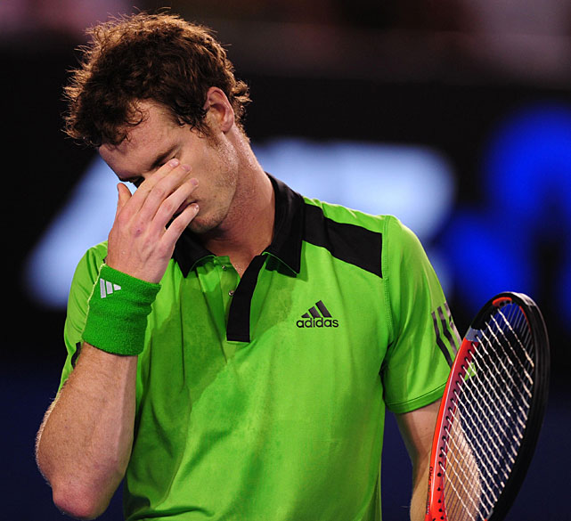 Murray shows his dejection during Sunday's final.