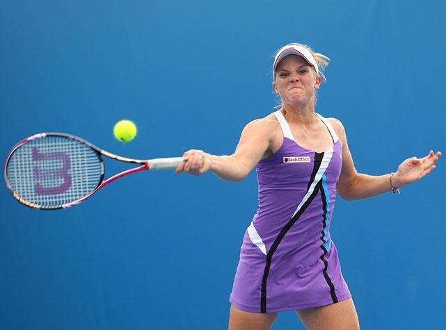 Melanie Oudin lost 6-1, 3-6, 6-1 to Klara Zakopalova of the Czech Republic.