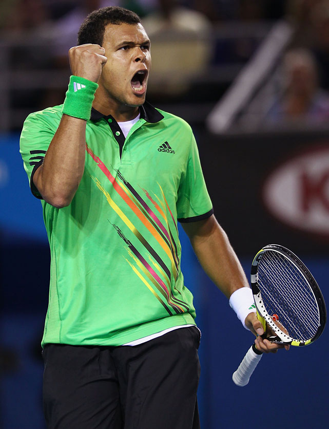 France's Jo-Wilfried Tsonga rallied from two sets down for a 4-6, 2-6, 6-2, 6-3, 6-4 victory over Germany's Philipp Petzschner.