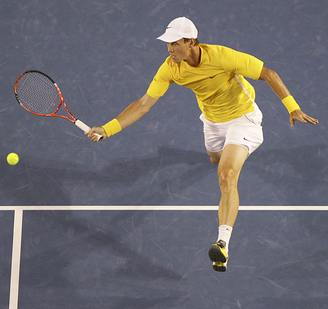 Berdych forced a second-set tiebreak but lost 7-5 to fall into a two-set hole.