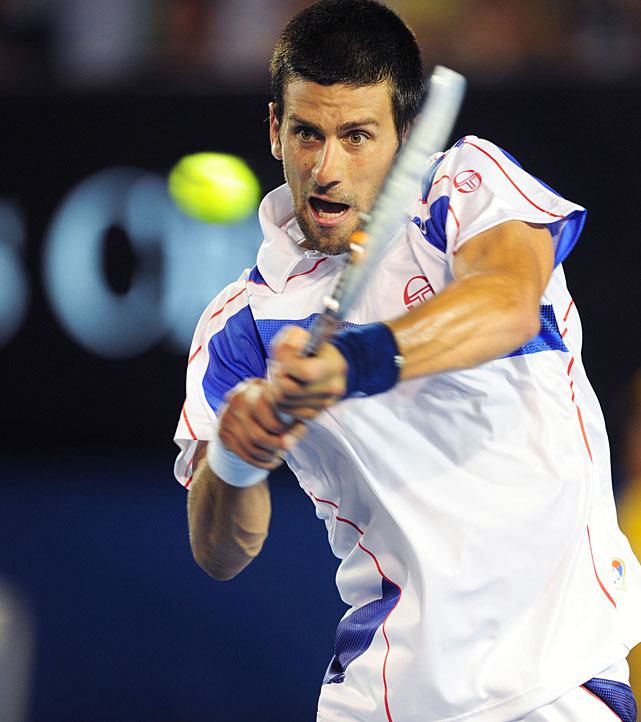 The third-seeded Djokovic used the forehand to pick apart Berdych systematically during a 36-minute first set.