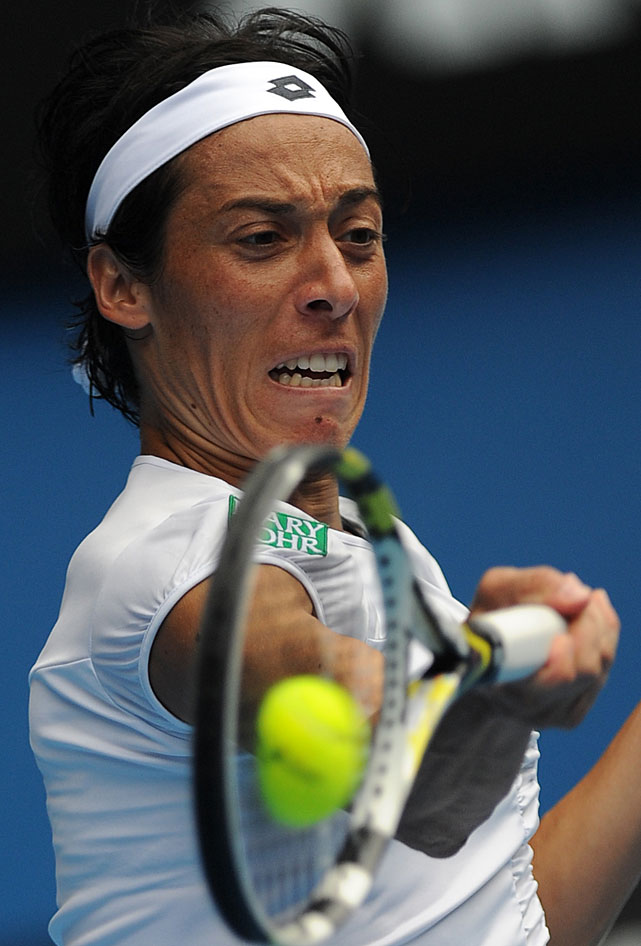 Schiavone made a valiant push in the third set but couldn't back down her top-ranked opponent.