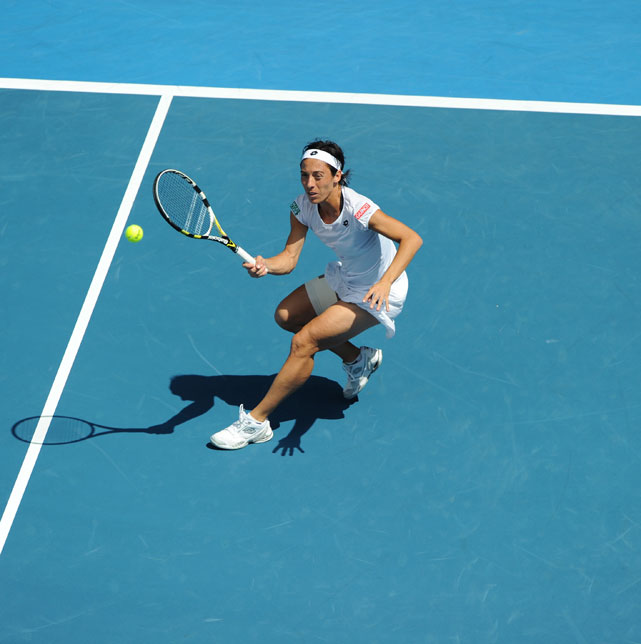 Schiavone's endurance was pushed to the limit in the wake of Sunday's 4-hour, 44-minute victory over Svetlana Kuznetsova.