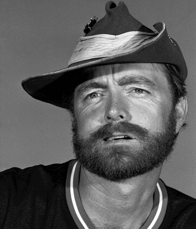 Blyleven shows off his sense of style during a photo shoot midway through the 1984 season.