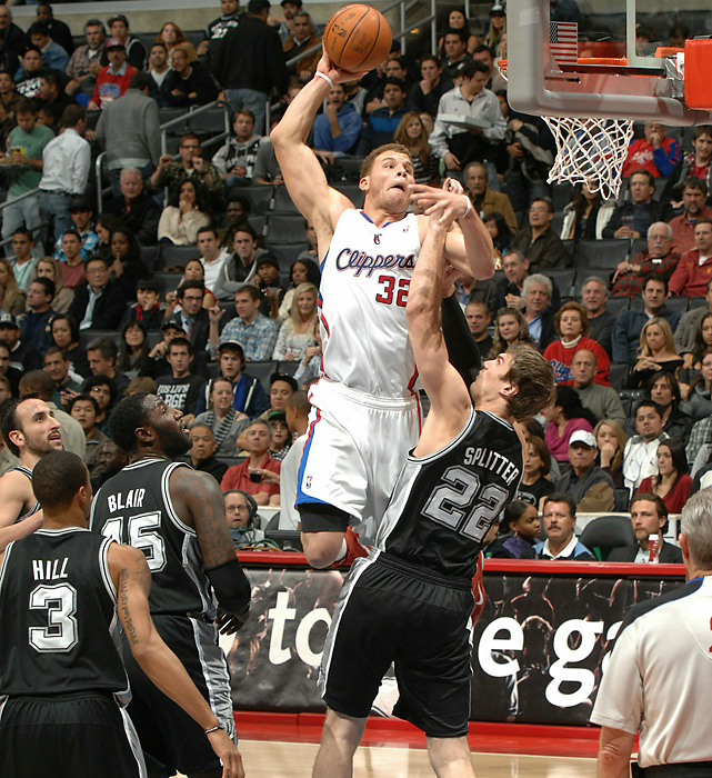 Since his first game in October, the Clippers' Blake Griffin has launched a one-man aerial show against the NBA. Here are some of his best dunks from the 10 weeks of the season.