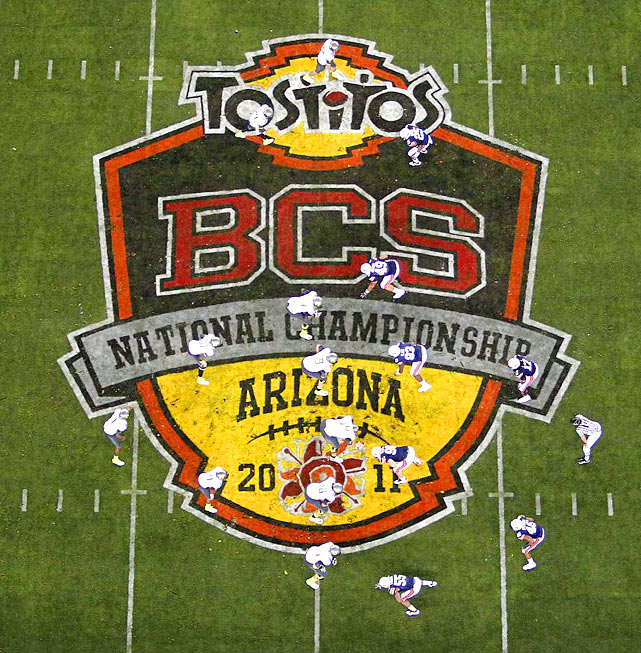 Auburn and Oregon were each making their first appearance in the BCS title game. Auburn's only previous title came in 1957, while Oregon was seeking its first.