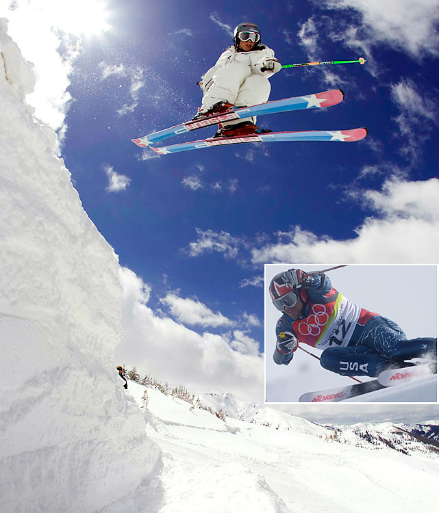 Slopestyle is another event not yet a part of the Olympics, but Schlopy has the Games in his blood. His cousin Eric (inset) was a three-time Olympic Alpine skier. Alex placed 13th at the Winter X Games, but he did win another event, Big Air, in Aspen.