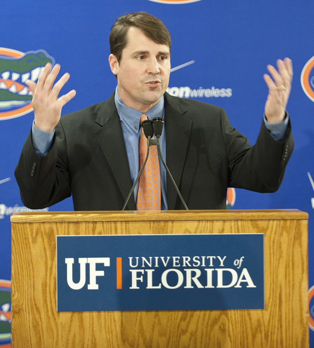 Jeremy Foley wasted no time following Urban Meyer's resignation going out and landing one of the hottest young names in the biz. Muschamp fits a similar profile to former Florida defensive coordinator Bob Stoops at the time Oklahoma hired him. He knows how to recruit and motivate.     (* -- The B grade got downgraded from a B  after Muschamp's bizarre hiring of Charlie Weis as offensive coordinator.)