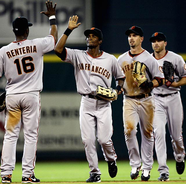 "Sportswriters and fans alike had a field day after the Giants-Astros game on April 7, 2010, during which Eugenio Velez made his season debut wearing a jersey with San Francisco spelled incorrectly. Quipped The AP: ""Maybe they left his shirt in ""San Fran-cic-so."""