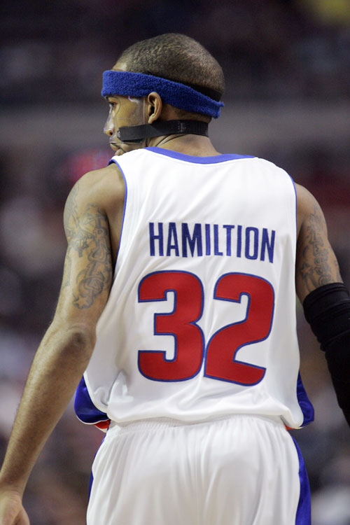 "Pistons swingman Rip Hamilton actually received an upgrade to his name with this one back in March 2008. ""Hamiltion"" sounds very Terminator-esque, no?"
