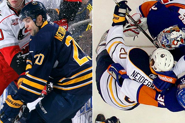 "Buffalo Sabres' center Rob Niedermayer unknowingly played with his name misspelled on his sweater in at least three games in January 2011. Isn't ""I before E, except after C"" a mnemonic rule of thumb for spelling?"
