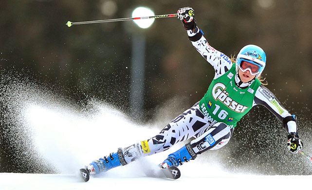 Julia Mancuso of the U.S. competes in the World cup giant slalom in Semmering, Austria, on Dec. 28.