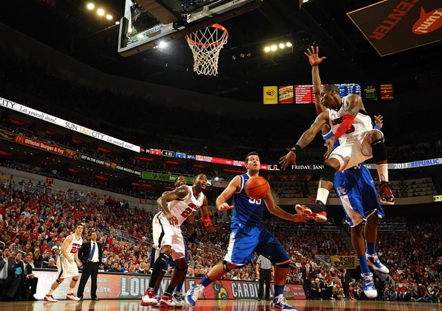 Louisville's Chris Smith scored 15 points in a 78-63 loss to Kentucky on Dec. 31 at the KFC Yum! Center in Louisville.