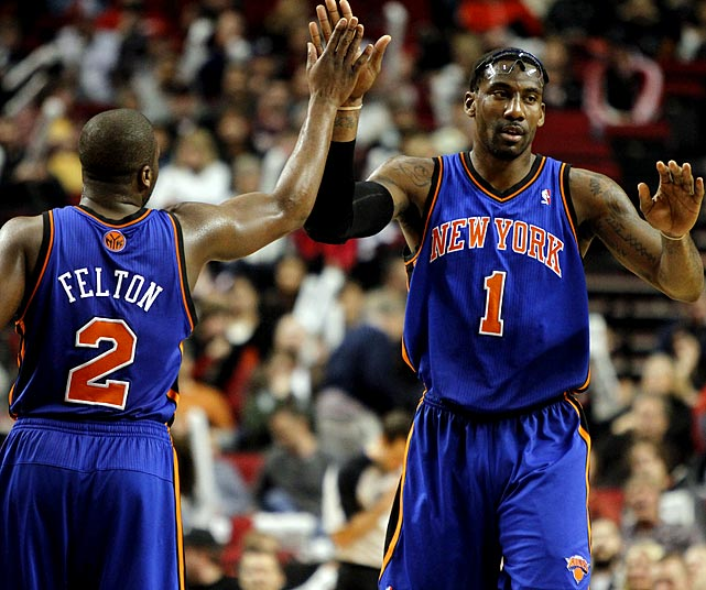 When Amar'e Stoudemire and Raymond Felton signed with the Knicks as free agents last summer, many New York fans were disappointed. They wanted LeBron. But since coming to New York, where the scrutiny of the local media runs high and the recent win total of the Knicks had been really, really low, the duo has brought basketball love back to the city. After lumbering to a 3-8 start, the Knicks won 13 of 14 and are now second in the Atlantic Division. Stoudemire has turned into an MVP candidate, and Felton has gained notice for Most Improved Player.