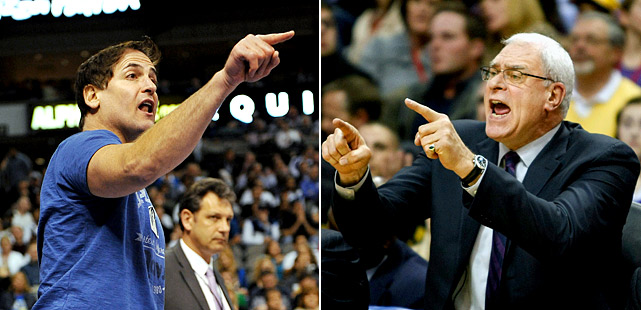 "The always-outspoken Mavs owner has taken shots at Nets owner Mikhail Prokhorov (his comment is not appropriate for this gallery) and Jackson (""Jeanie Bus' boy-toy""). Really, it's nothing new or shocking from Cuban. But he hasn't been alone in dishing out verbal jabs. Jackson has been a critic of nearly everyone in the league, from his own players (hi, Kobe), to opposing coaches (Erik Spoelstra and Stan Van Gundy), to opposing players (Steve Nash, Deron Williams), to even shot-clock operators. No one is free from the wrath of Cuban and the Zen Master."