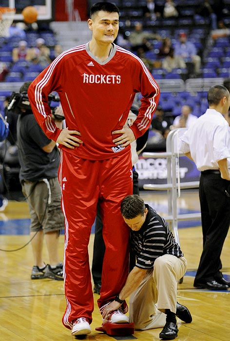 Yao just can't catch a break. In mid-December, doctors discovered a stress fracture in his left ankle -- the one above the surgically repaired foot he's fractured three times, the last of which cost him the entire 2009-10 season -- and he underwent surgery on Jan. 6. The 7-foot-6 Yao is in the final year of his contract and said he won't retire. Meanwhile, the Rockets have been approved for a disabled player exception, which allows the team to either acquire a free agent or trade for a player who matches up to the mid-level player exception.