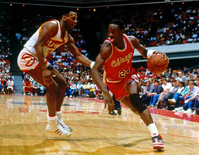 Jordan didn't win his first NBA championship until 1991, but his play from the start showed he was destined for big things. MJ averaged 28.2 points per game his rookie season while shooting an impressive 51.5 percent from the field. He was voted a starter to the All-Star team and would go on to win Rookie of the Year along with a few other trophies later in his career.